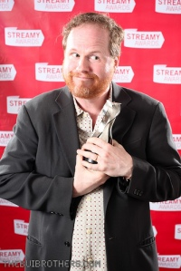 Joss Whedon accepting an award for Doctor Horrible